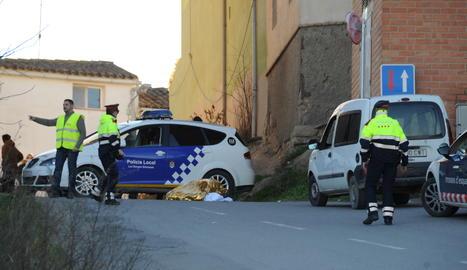 El lloc de l'accident, poc després de l'atropellament.
