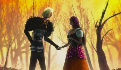 Fotograma d'un dels contes animats de la pel·lícula 'Un monstre em ve a veure', de J. Bayona.
