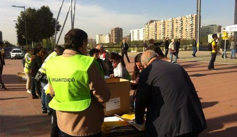 Un moment de la Gigaenquesta a Lleida l'octubre del 2014.