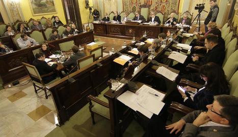 Imatge d'arxiu de la sessió de l'últim ple de l'ajuntament de Lleida.