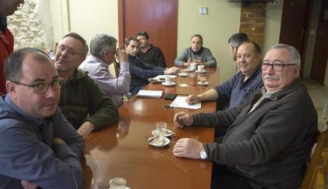 Reunió ahir a Belianes entre els alcaldes i la comunitat de regants del Segarra-Garrigues.