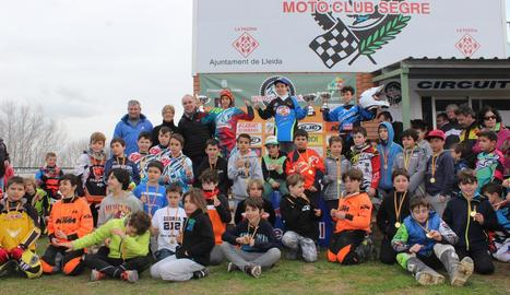 La prova d'MX65 va ser una de les més nombroses, amb la participació de 49 pilots procedents de tot Catalunya.