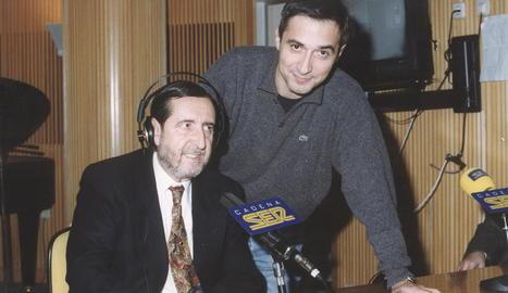 Juan Soto Viñolo amb Xavier Sardà, en una foto d'arxiu.