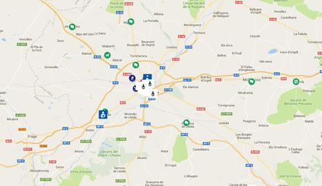 La zona reservada per als més petits al pati de Grans Records, a Lleida.
