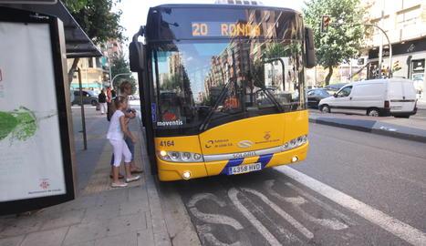 Un bus urbà a Lleida