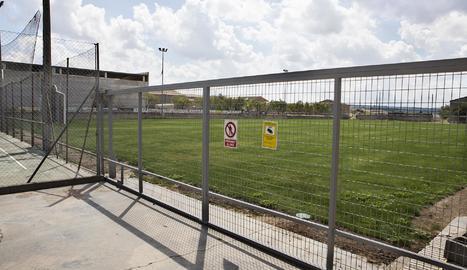 El camp de futbol de Verdú