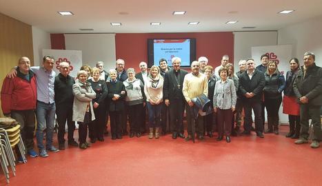 Un moment de l'acte de presentació del nou projecte de Càritas a Balaguer.