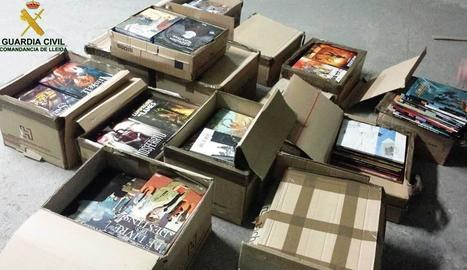 Imatge dels còmics confiscats i valorats en 7.665 euros.