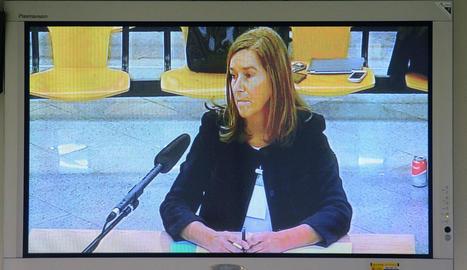 Vista de la declaració de l'exministra de Sanitat Ana Mato.