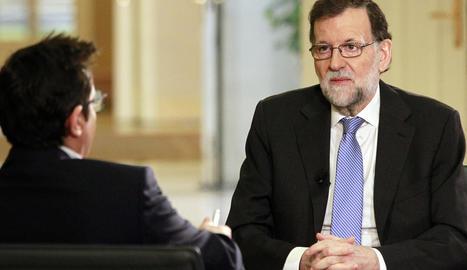 Rajoy durant l'entrevista a Televisió Espanyola.