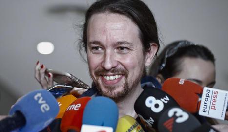 El reelegit líder de Podem, Pablo Iglesias.