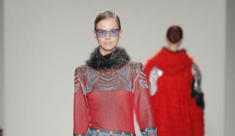 Models amb les propostes de Custo Barcelona van desfilar ahir a la passarel·la de la Setmana de la Moda de Nova York.