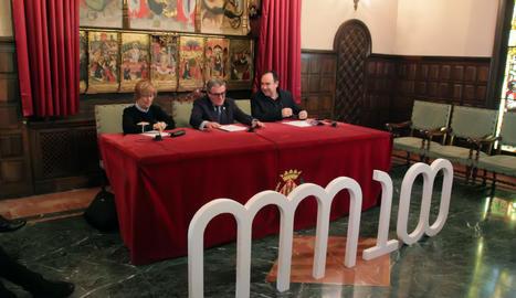 Presentació dels actes del centenari del Museu de Morera de Lleida