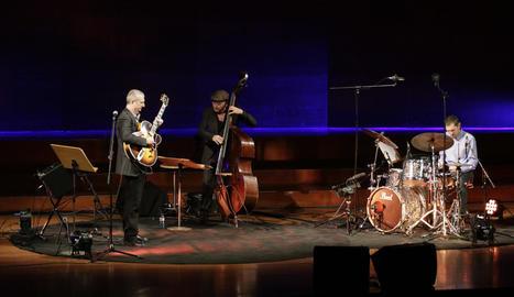 Alfons Enjuanes Trio va presentar ahir el CD a l'Auditori.