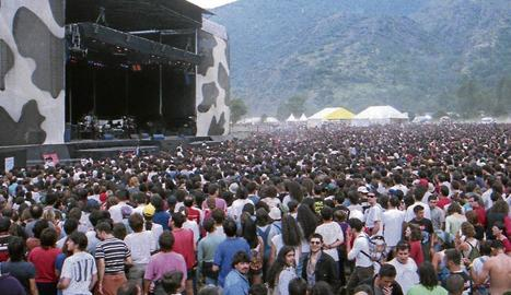 Les tres edicions del festival d'Escalarre, entre el 1996 i el 1998, van atreure milers de persones.