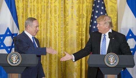 Benjamin Netanyahu i Donald Trump, a la roda de premsa d'ahir.