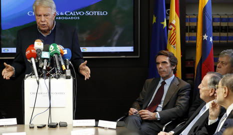 González i Aznar, ahir a l'acte de Leopoldo López.