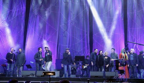 Després de la manifestació, TV3 oferirà un resum del concert 'Volem acollir' de dissabte passat.