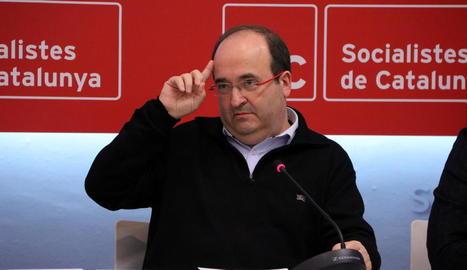 Imatge del secretari general del PSC, Miquel Iceta.