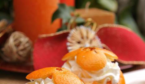 Taronges amb crema de taronja
