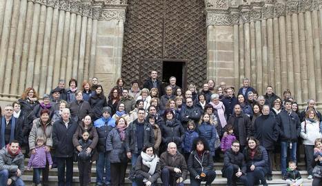 Els visitants que ahir van participar a 'Coneguem l'Urgell'.
