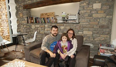 Josep Raúl i la seva família, al Bonansa.
