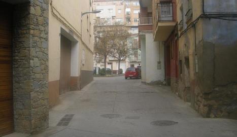 Una imatge del carrer Sant Josep, de Fraga.