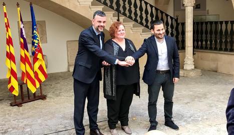 Els consellers de Cultura de Catalunya, les Balears i València.