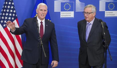 Pence es va reunir ahir amb el president de la Comissió Europea, Jean-Claude Juncker.