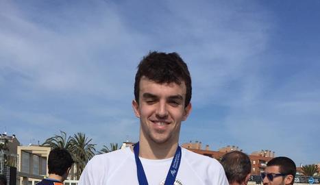 Ferran Julià, dissabte després d'aconseguir la medalla a Mataró.