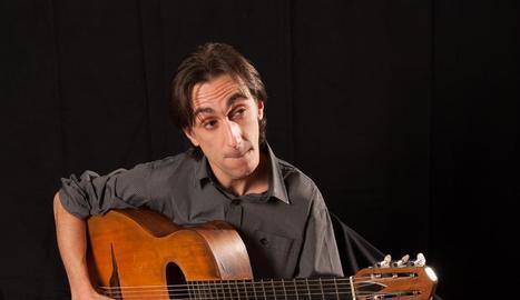 El guitarrista de jazz francès establert a Lleida Jérôme Frayssinet.