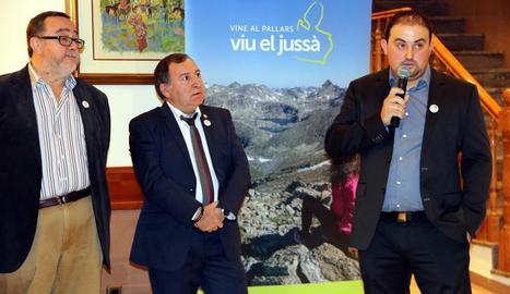 Josep Palau, president d'Àpat, durant la celebració de dilluns.
