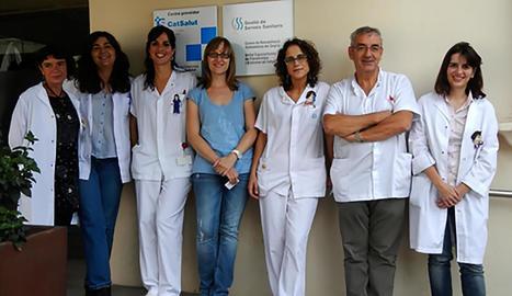 L'equip que forma la Unitat d'Atenció a les Síndromes de Sensibilització Central del Santa Maria.