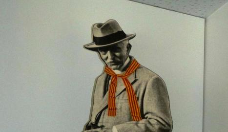 La foto de l'expresident Macià al Museu de les Borges.