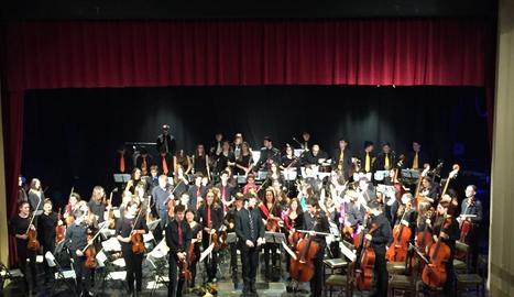 Concert dels alumnes del Conservatori dels Pirineus dissabte passat a Puigcerdà.