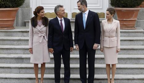 Macri es va reunir amb Felip VI i va dinar amb els reis a la Zarzuela.