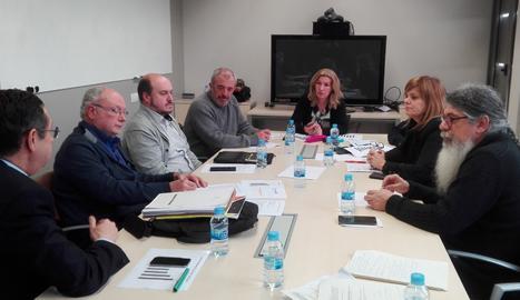 Una imatge de la reunió anual de la Comissió de seguiment del Montsec.