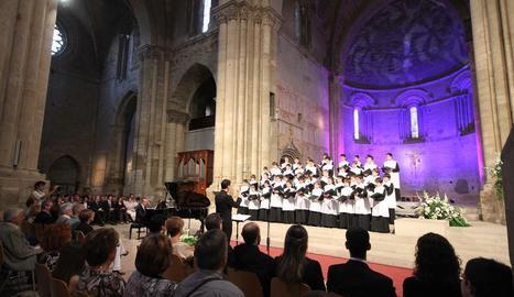 L'Escolania de Montserrat va actuar a la Seu Vella de Lleida el 2014.
