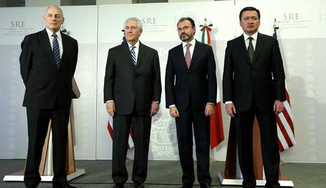 Rex Tillerson, John Kelly, Luis Videgaray i Miguel Ángel Osorio.