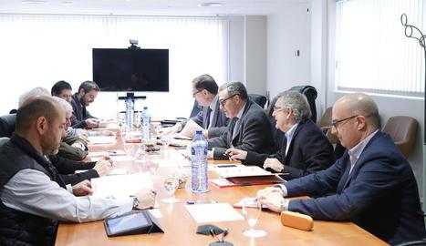 Imatge de la reunió del Consell d'Administració de Mercolleida.