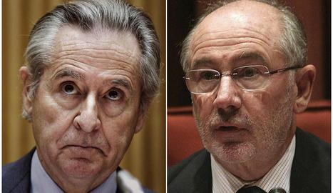 Els expresidents de Caja Madrid Miguel Blesa i Rodrigo Rato.