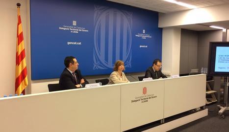 La clausura de la jornada a Lleida sobre nova llei del dret a l'Habitatge, amb la consellera Meritxell Borràs.