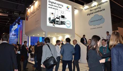 Els primers visitants del Mobile World Congress ja van arribar ahir a Barcelona.