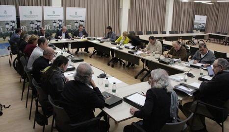 Els membres del Patronat de l'OJC es van reunir dijous a la Diputació de Lleida.