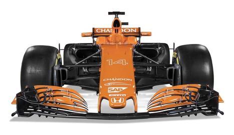 Fernando Alonso i Stoffel Vandoorne, amb els seus nous colors.