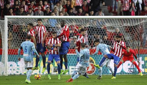 Amb aquesta rematada de Iago Aspas el Celta va arrancar un punt del camp de l'Sporting.