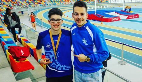 Arnau Monné, campió català juvenil en 60 metres llisos