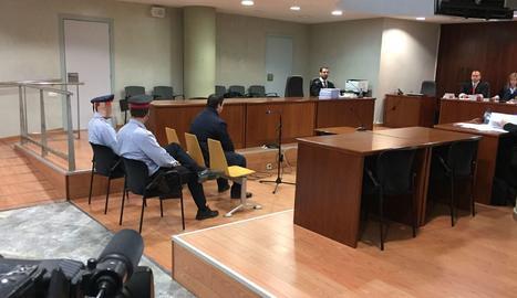 Alejandro Ruiz, aquest dilluns a la banqueta dels acusats a l'Audiència de Lleida.
