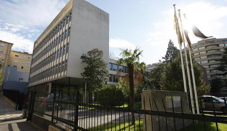 L'oficina d'estrangeria de Lleida.