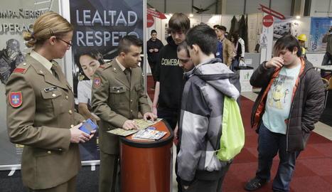 L'estand de l'Exèrcit en l'última edició de la fira de FP.